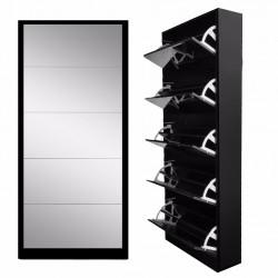 Black Colour 5 Draw Shoe Mirror Cabinets