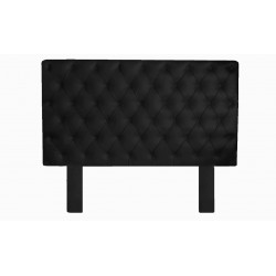 Black Colour Victorian Pu Leather Headboard (DOUBLE SIZE)