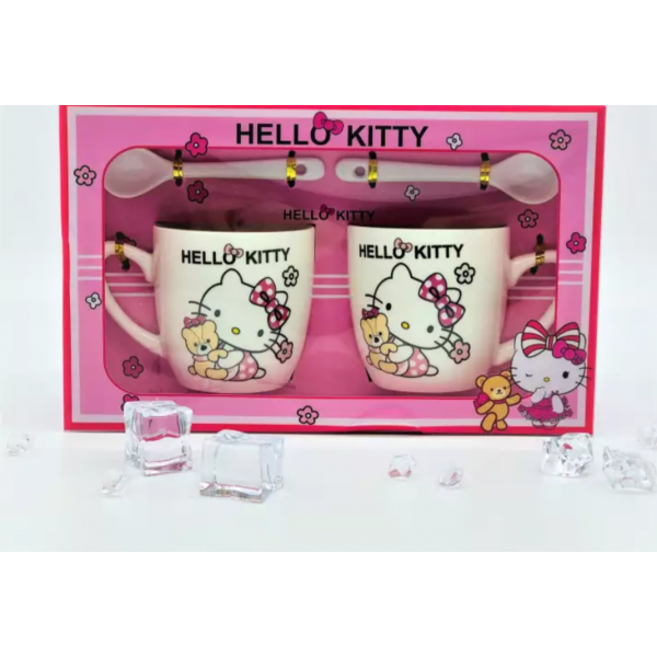 2 x Hello kitty mug set