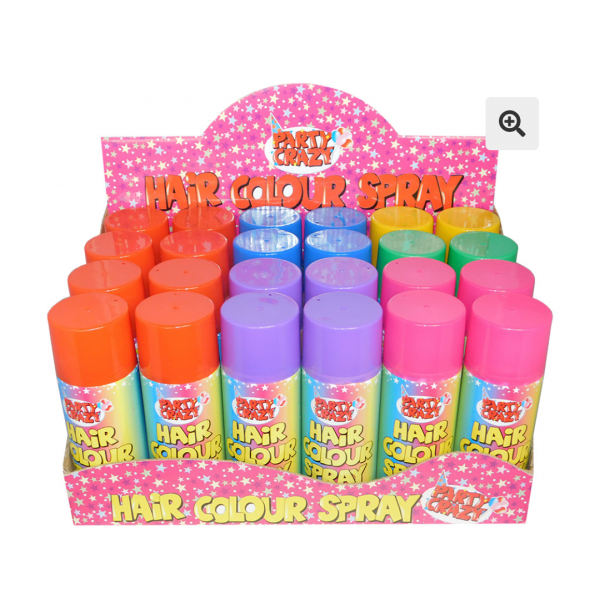 6 x Party Hair Colour Spray