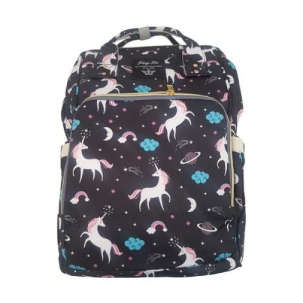 Unicorn Nappy Bag (Black Colour)